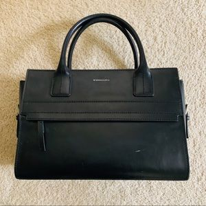 BCBG Black Leather Purse
